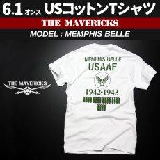 画像1: Tシャツ ミリタリー 半袖  爆弾エアフォース メンフィスベル ロゴT / ホワイト 白 (1)