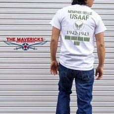画像2: Tシャツ ミリタリー 半袖  爆弾エアフォース メンフィスベル ロゴT / ホワイト 白 (2)