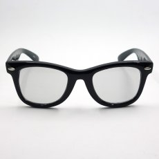 画像3: 送料無料 ウェリントン型 サングラス シンプル ブラック 黒 ライトスモークレンズ 新品 (3)
