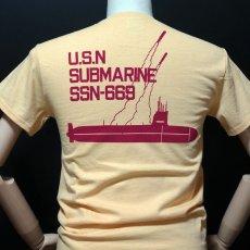 画像7: THE MAVERICKS ミリタリー Tシャツ 米海軍 NAVY サブマリン モデル / クリームイエロー (7)