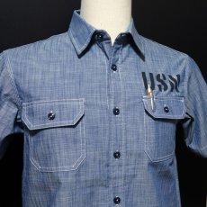 画像5: 半袖 シャンブレーシャツ US.NAVY 米海軍 ミリタリー ショートスリーブ (5)