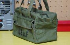 画像2: メカニック ツール バッグ メンズ USAF ロゴ 工具バッグ 工具箱 ROTHCO/ロスコ /オリーブ (2)