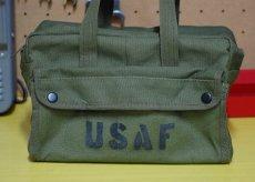 画像3: メカニック ツール バッグ メンズ USAF ロゴ 工具バッグ 工具箱 ROTHCO/ロスコ /オリーブ (3)