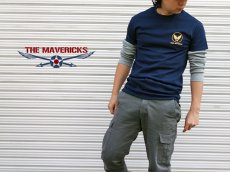 画像5: ミリタリー Tシャツ 半袖 爆弾エアフォース メンフィス ベル モデル / ネイビー 紺 (5)