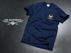 画像2: ミリタリー Tシャツ 半袖 爆弾エアフォース メンフィス ベル モデル / ネイビー 紺 (2)