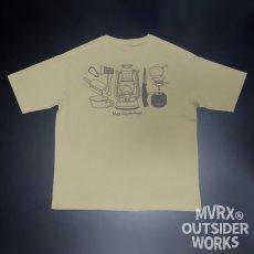 画像5: MVRX ポケット付き ビッグシルエット Tシャツ CAMP GEAR モデル キャンプ Tシャツ カーキ (5)