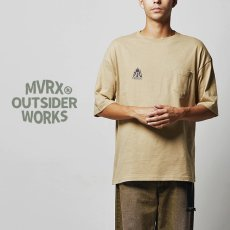 画像8: MVRX ポケット付き ビッグシルエット Tシャツ CAMP GEAR モデル キャンプ Tシャツ カーキ (8)