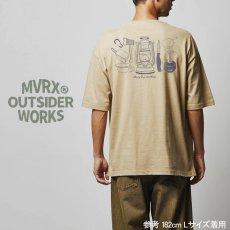 画像9: MVRX ポケット付き ビッグシルエット Tシャツ CAMP GEAR モデル キャンプ Tシャツ カーキ (9)