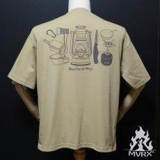 画像3: MVRX ポケット付き ビッグシルエット Tシャツ CAMP GEAR モデル キャンプ Tシャツ カーキ (3)