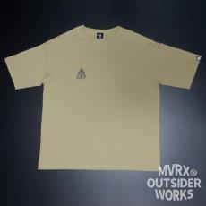 画像4: MVRX ポケット付き ビッグシルエット Tシャツ CAMP GEAR モデル キャンプ Tシャツ カーキ (4)