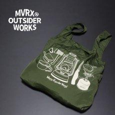 画像4: 新品 ポケッタブル エコバッグ 大容量 MVRX ブランド キャンプ道具 (4)