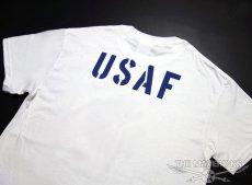 画像4: USAFエアフォース・「THE MAVERICKS」ミリタリーTシャツ・白×紺 (4)