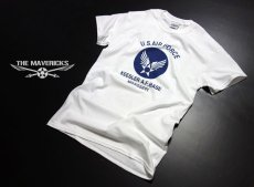 画像5: USAFエアフォース・「THE MAVERICKS」ミリタリーTシャツ・白×紺 (5)