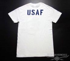 画像2: USAFエアフォース・「THE MAVERICKS」ミリタリーTシャツ・白×紺 (2)