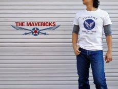 画像6: USAFエアフォース・「THE MAVERICKS」ミリタリーTシャツ・白×紺 (6)