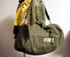 画像4: 大容量 ミリタリー ボストンバッグ ROTHCO ロスコ 社製 USMC ショルダーバッグ 新品/オリーブ (4)