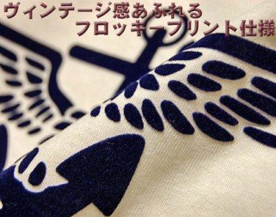 画像3: U.S.NAVY・錨マークTシャツ・フロッキープリント・生成り