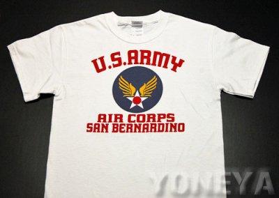 画像2: アウトレット品!USAAC・アメリカ陸軍航空隊1940モデルミリタリーTシャツ・白/S
