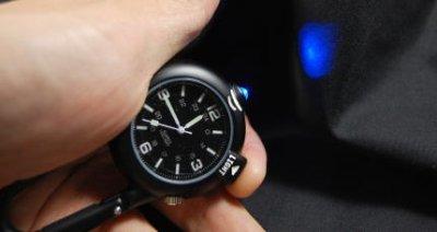 画像1: 青 LED ライト付き クリップ ウォッチ ミリタリー ROTHCO ロスコ 新品/ブラック 黒 キーホルダー 懐中時計