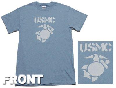 画像1: Tシャツ ミリタリー USMC 米海兵隊 マリンモデル MAVERICKS / 水色 ブルー