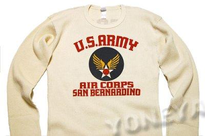 画像3: ミリタリー サーマル ワッフル 長袖Tシャツ USAAC アメリカ 陸軍航空隊 MAVEVICKS /  生成り ナチュラル