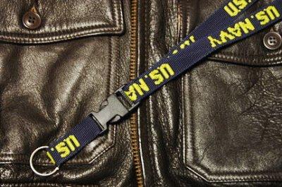 画像1: ネック ストラップ ROTHCO ロスコ ブランド U.S.NAVY 米海軍 ネイビー 紺 新品