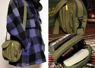 画像3: バッグ メンズ ショルダー 旅行 用 小物入れ 2WAY ポーチ ROTHCO ロスコ 新品/オリーブドラブ