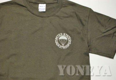画像2: ミリタリーTシャツ 半袖 AIRBORNE エアボーン パラシュート部隊 オリーブドラブ