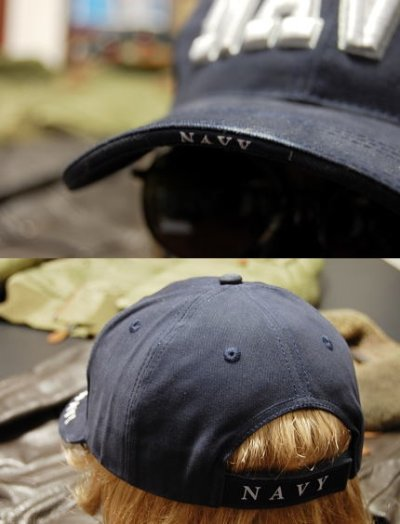 画像2: 帽子 メンズ ミリタリーキャップ NAVY ロゴ ROTHCO ロスコ ブランド 米海軍 公認 /ネイビー 紺