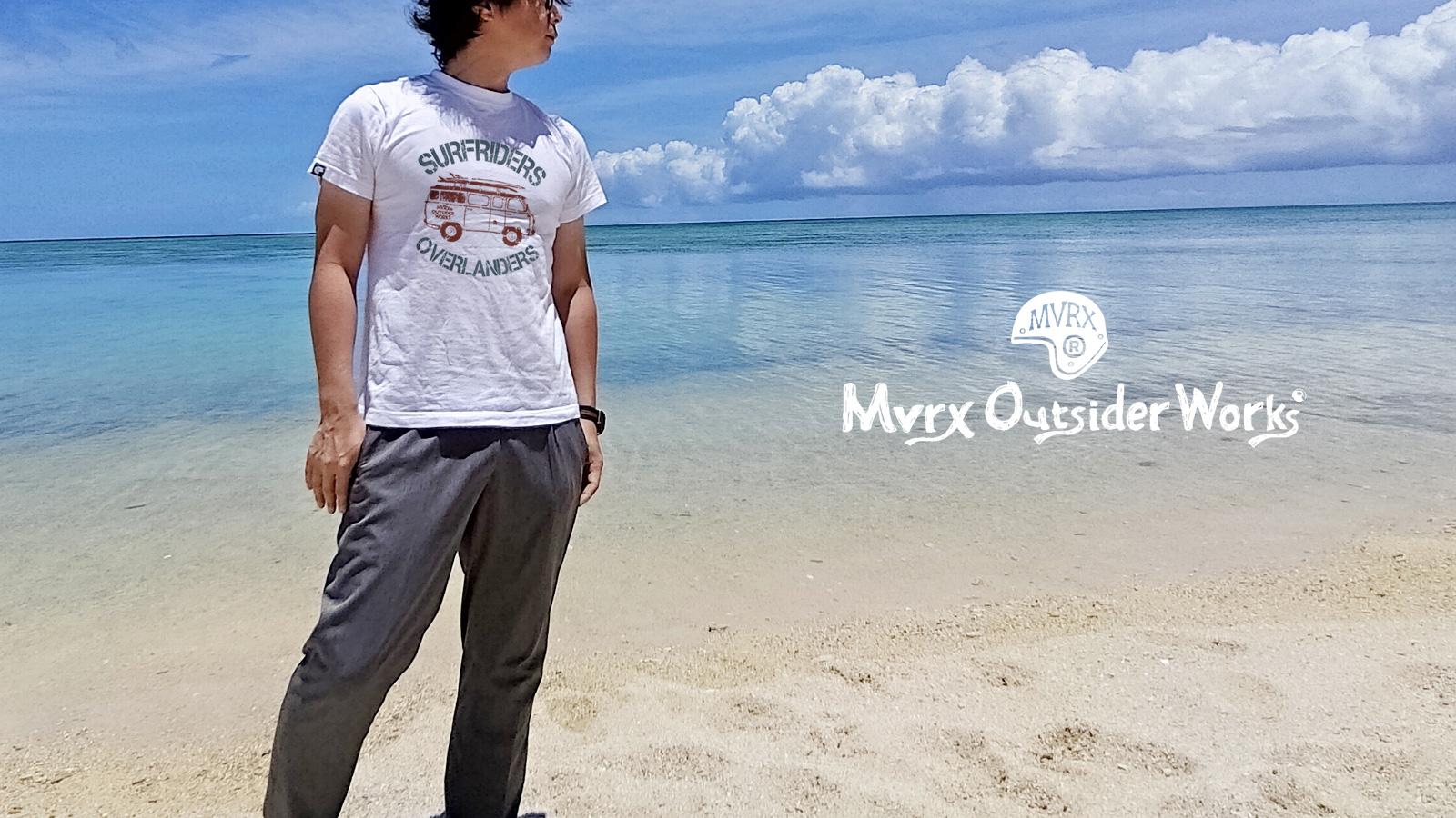 MVRX 半袖 Tシャツ SURFRIDERS モデル サーフィン ワゴン プリント 白