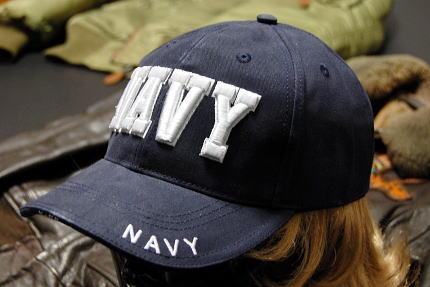 画像1: 帽子 メンズ ミリタリーキャップ NAVY ロゴ ROTHCO ロスコ ブランド 米海軍 公認 /ネイビー 紺 (1)