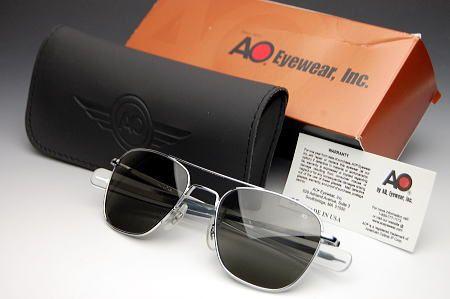 画像1: 偏光サングラス メンズ American Optical アメリカンオプティカル社 USA製 オリジナルパイロット 新品 / 偏光 シルバー (1)