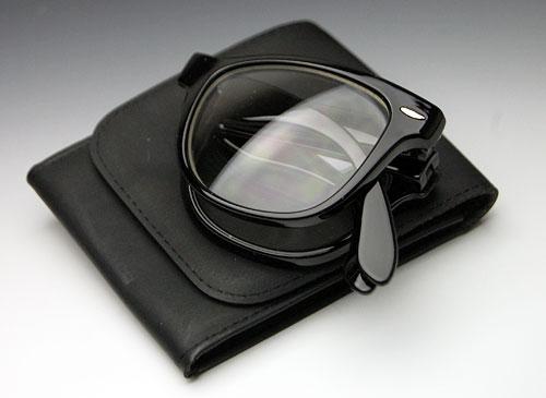画像1: 折りたたみ!ウェイファーラー型デザイン黒クリアー・ケース付き (1)