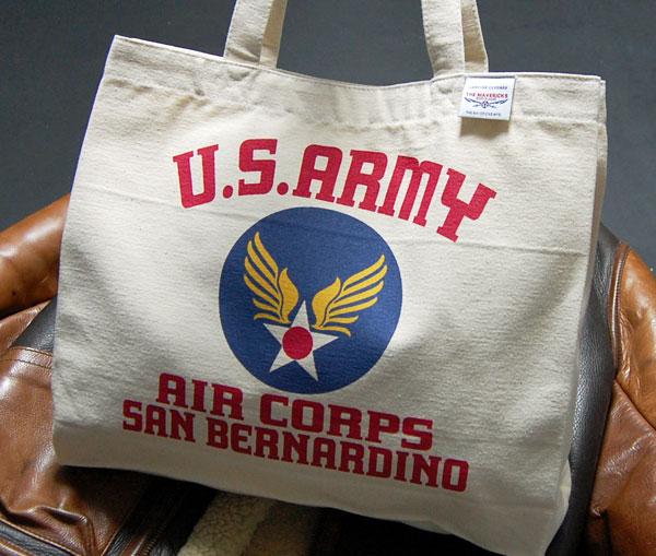 画像1: USAAC・アメリカ陸軍航空隊1940モデル・肩がけトートーバッグ・生成り (1)
