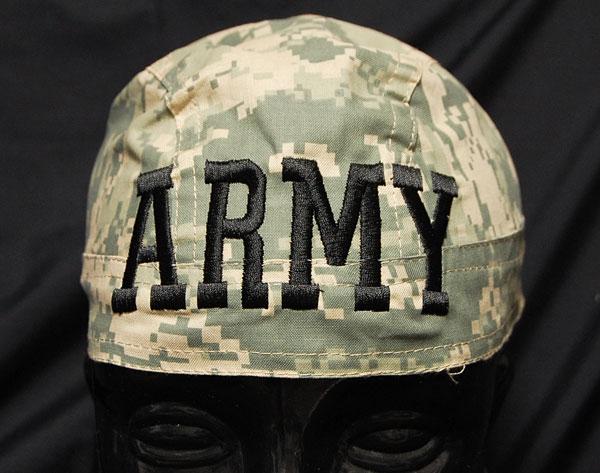 画像1: バンダナ キャップ ARMY 柄 ROTHCO ロスコ 社製 新品 / デジタル カモフラージュ (1)