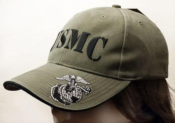 画像1: 帽子 メンズ ミリタリー キャップ ROTHCO ロスコ ブランド US MARINE オフィシャル USMC ロゴ /オリーブ (1)