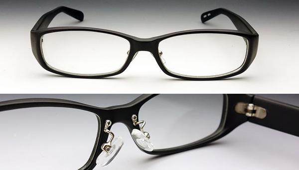 画像1: 高品質モデル・鼻あて付きの高品質アイウェア・ブラック (1)
