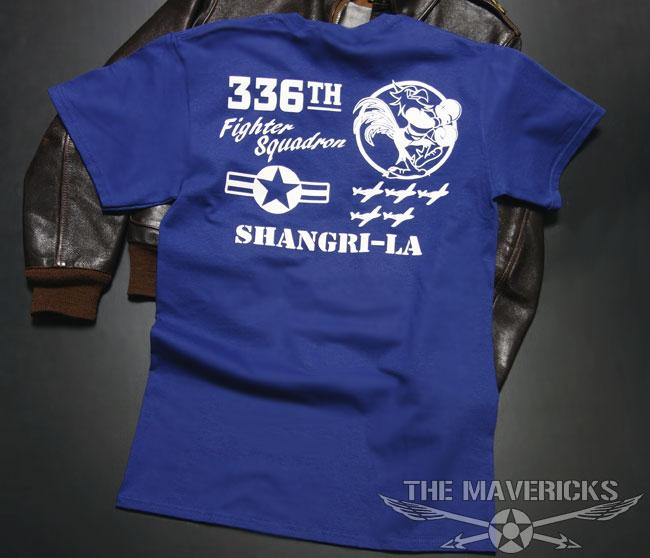 画像1: 第8空軍エアフォース・「シャングリラ」モデル・ミリタリーTシャツ・ブルー (1)
