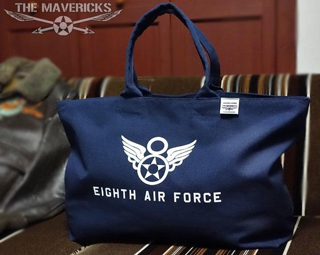 画像1: 第8空軍エアフォース・キャンバスジップトートバッグ (1)