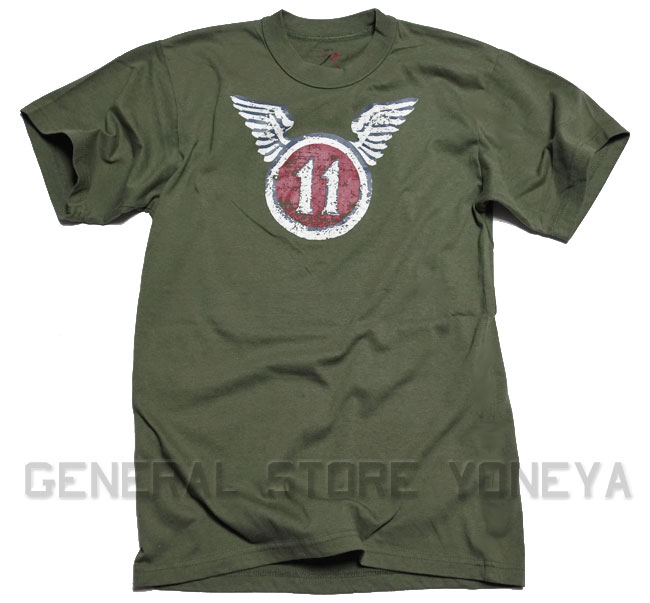 画像1: ROTHCO社製・「11th・AIRBORNE」ミリタリーTシャツ・OD (1)