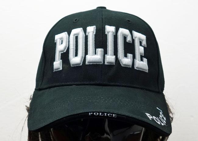 画像1: ROTHCO社製・「POLICE」ロゴ・ベースボールキャップ・黒 (1)