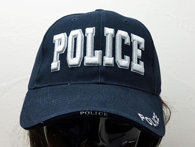 画像1: ROTHCO社製・「POLICE」ロゴ・ベースボールキャップ紺 (1)