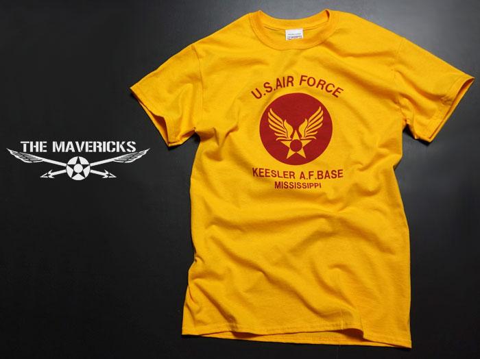 画像1: USAFエアフォース・ミリタリーTシャツ・黄×ボルドー/New (1)