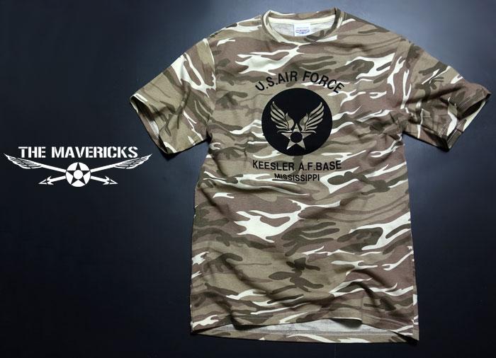 画像1: Tシャツ メンズ 半袖 デザート カモフラージュ 迷彩 ミリタリー Tシャツ USAF / ブラウン カーキー (1)
