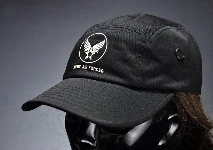 画像1: キャンプキャップ 帽子 ミリタリー エアフォース ROTHCO ロスコ ブランド /ブラック 黒 (1)