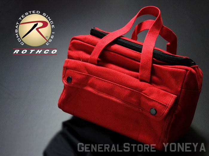 画像1: メカニック ツール バッグ 大 メンズ ロゴ 工具バッグ 工具箱 ROTHCO/ロスコ /赤 レッド (1)