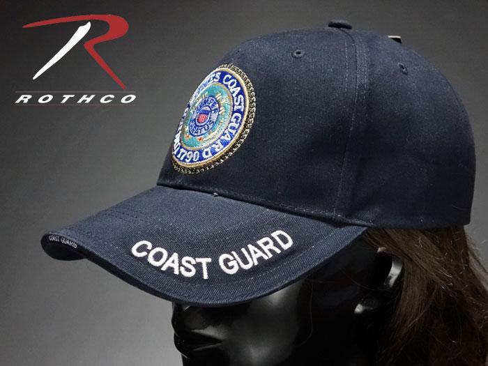 画像1: ミリタリー ベースボールキャップ メンズ ROTHCO社 ブランド /U.S.CoastGuard アメリカ沿岸警備隊/ネイビー 紺 (1)