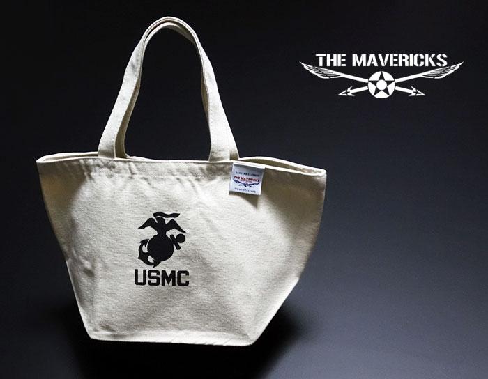画像1: USMC(USマリン)・キャンバス地ランチバッグ・ナチュラル (1)