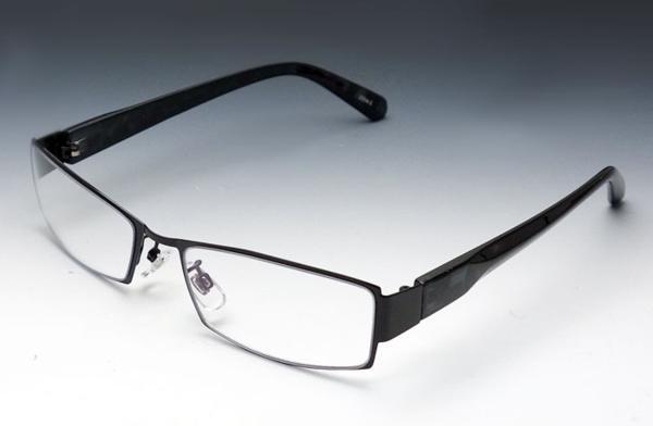 画像1: 伊達メガネ メンズ メタル クリアー 高品質 ブラック 黒 新品/ 哀川翔 Gackt タイプ (1)