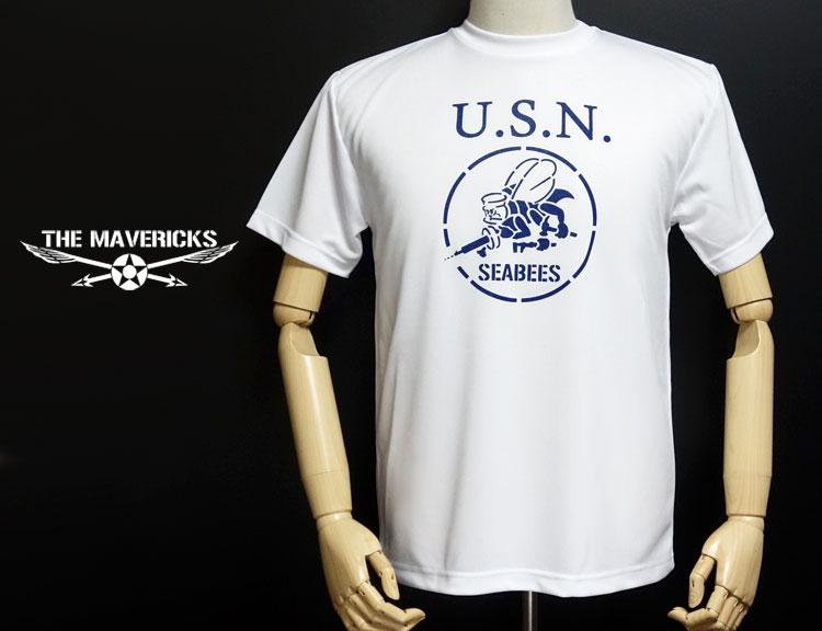 画像1: 水陸両用!ラッシュガードにも使えるドライTシャツ・米海軍「SeaBees」モデル (1)